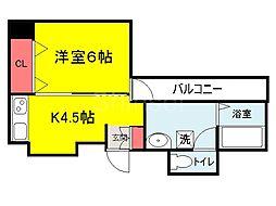 大阪府堺市堺区櫛屋町東2丁の賃貸マンションの間取り
