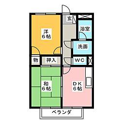 サープラスTWO SUMI B棟[1階]の間取り