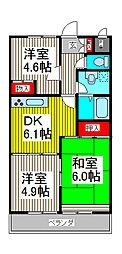 ハイクレスト喜沢南マンション[3階]の間取り