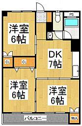 蓮見マンション[2階]の間取り