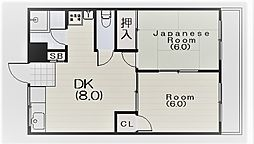 西宮ビル[304号室]の間取り