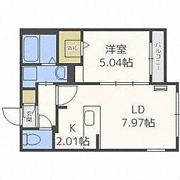 フォレストヒルズN36[4階]の間取り