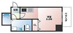 ララプレイス四天王寺夕陽ヶ丘[11階]の間取り