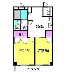 神奈川県座間市入谷東4丁目の賃貸マンションの間取り
