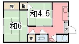 光栄荘[11号室]の間取り