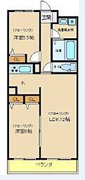 ソレアード王塚台[2階]の間取り