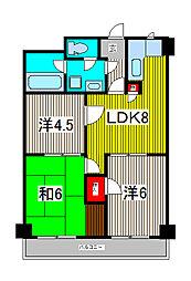 TOEI MANSION[4階]の間取り