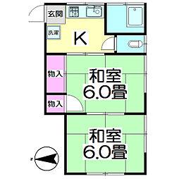 第二戸張荘[201号室]の間取り