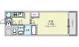 Osaka Metro御堂筋線 江坂駅 徒歩7分の賃貸マンション 5階1Kの間取り