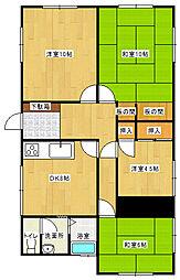 [一戸建] 愛媛県新居浜市多喜浜5丁目 の賃貸【/】の間取り