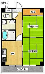 グランドメゾン富士[5階]の間取り