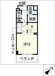 スタシオン上小田井[5階]の間取り