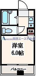 ユーシン深江[4階]の間取り