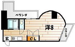 K−2西小倉ビル[10階]の間取り
