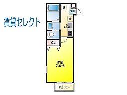 柏たなか新築工事A棟[103号室]の間取り