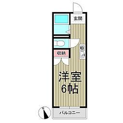 リヴェラ鎌倉[201号室]の間取り