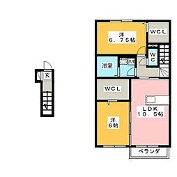 グランドゥールIII[2階]の間取り