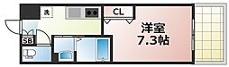 Osaka Metro千日前線 今里駅 徒歩5分の賃貸マンション 8階1Kの間取り