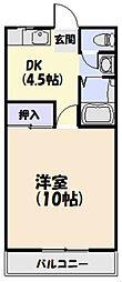 プラザ14[2階]の間取り