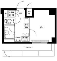 ルーブル蒲田南参番館[6階]の間取り
