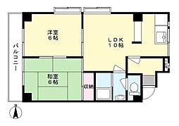 サンライフ生田[2階]の間取り