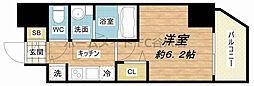 プレサンス心斎橋クオーレ 2階1Kの間取り