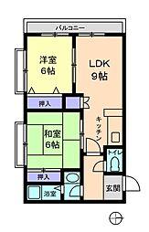 信開セルーラ吉島[110号室]の間取り
