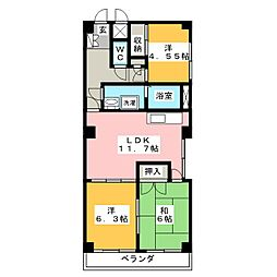 メゾンGOTOH[5階]の間取り