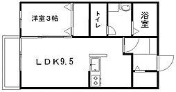 コンフォール松山[201号室]の間取り