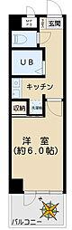 アスパ小石川 4階1Kの間取り