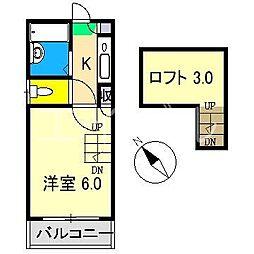 シンフォニィ百石[2階]の間取り