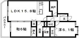 ウィステリアひくま[4階]の間取り