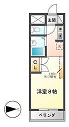 ユーノディア6[4階]の間取り
