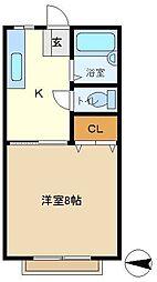 メゾン豊D 202[2階]の間取り