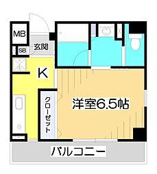 志木駅前ハイツ[9階]の間取り