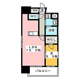 グランエターナ福岡警固[5階]の間取り