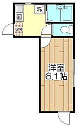 オペラシオンボヌール竹の塚[205号室]の間取り