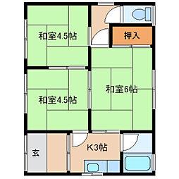 [一戸建] 奈良県奈良市青野町 の賃貸【/】の間取り
