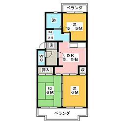 リトルタウン福塚II[2階]の間取り