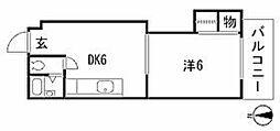 (西原)中田ビル[4階]の間取り