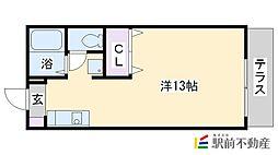 ラポール原田[203号室]の間取り