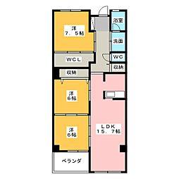 アンソレイエ覚王山[10階]の間取り