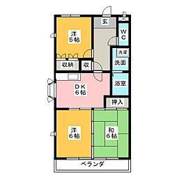白沢田園マンション[3階]の間取り