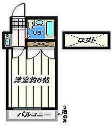 埼玉県三郷市早稲田5丁目の賃貸アパートの間取り