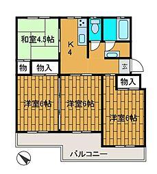 シャトレーヤマダ[2階]の間取り
