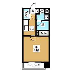 belle・crest[8階]の間取り
