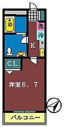 仮称)南初富4丁目AP[205号室]の間取り