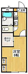 レオパレスcross wing[2階]の間取り