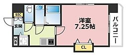 Luxe深江橋[401号室号室]の間取り