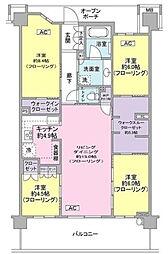 ブリリアシティ横浜磯子[6階]の間取り